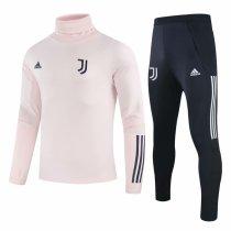 Mens Juventus Training Suit Turtle Neck Pink 2020/21