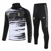 Mens Juventus Training Suit Turtle Neck Black 2020/21