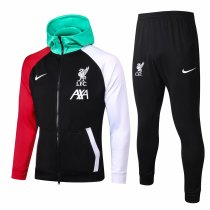 Mens Liverpool Hoodie Jacket + Pants Training Suit Black 2020/21