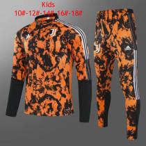 Kids Juventus Training Suit Orange 2020/21