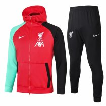 Mens Liverpool Hoodie Jacket + Pants Training Suit Red 2020/21