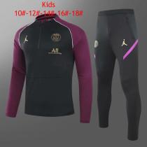 Kids PSG Training Suit Black - Purple 2020/21