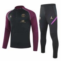 Mens PSG x Jordan Training Suit Black - Purple 2020/21