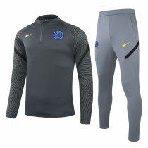Mens Inter Milan Training Suit Deep Grey 2020/21