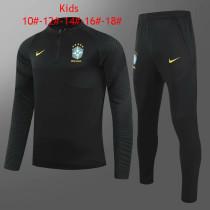 Kids Brazil Training Suit Black 2021/22