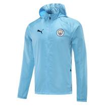 Mens Manchester City All Weather Windrunner Jacket Light Blue 2021/22