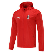 Mens AC Milan All Weather Windrunner Jacket Red 2020/21