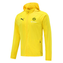 Mens Borussia Dortmund All Weather Windrunner Jacket Yellow 2020/21
