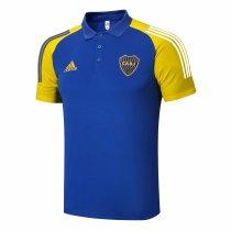 Mens Boca Juniors Polo Shirt Blue 2020/21