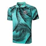 Mens Barcelona Polo Shirt Green 2021/22