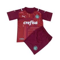 Kids Palmeiras Goalkeepr Red Jersey 2021/22