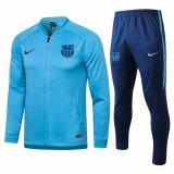 Mens Barcelona Jacket + Pants Training Suit Blue 2020/21