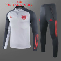 Kids Bayern MunichTraining Suit Grey 2020/21