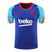 Mens Barcelona Short Training Jersey Blue 2020/21