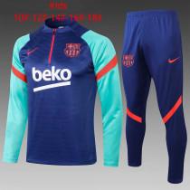 Kids Barcelona Training Suit Blue 2021/22