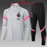 Kids PSG x Jordan Jacket + Pants Training Suit Light Grey 2021/22