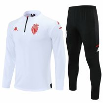 Mens AS Monaco Training Suit White 2021/22