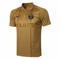 Mens PSG Polo Shirt Gold 2021/22