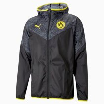 Mens Borussia Dortmund All Weather Windrunner Jacket Black 2021/22
