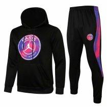 Mens PSG x JORDAN Hoodie Sweatshirt + Pants Suit Black II 2021/22