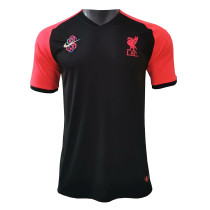 Mens Liverpool Short Training Jersey Black 2021/22