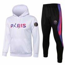 Mens PSG x JORDAN Hoodie Sweatshirt + Pants Suit White 2021/22