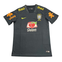 Mens Brazil Short Training Jersey Navy 2021/22