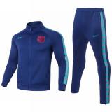 Mens Barcelona Jacket + Pants Training Suit Blue II 2021/22