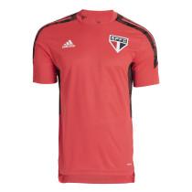 Mens Sao Paulo FC Short Training Jersey Mens Red 2021/22