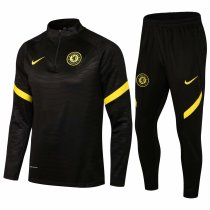 Mens Chelsea Training Suit Black 2021/22
