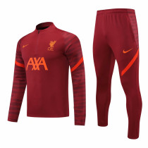 Mens Liverpool Training Suit Burgundy 2021/22