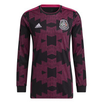 Mens Mexico Home Jersey Long Sleeve 2021
