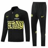 Mens Chelsea Jacket + Pants Training Suit Black 2021/22