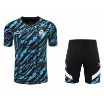 Mens Olympique Marseille Short Training Suit Deep Blue 2021/22