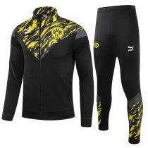 Mens Borussia Dortmund Jacket + Pants Training Suit Black 2021/22