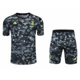 Mens Juventus Short Training Suit Black 2021/22