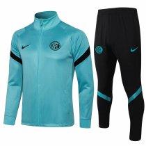 Mens Inter Milan Jacket + Pants Training Suit Green 2021/22