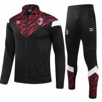 Mens AC Milan Jacket + Pants Training Suit Black 2021/22