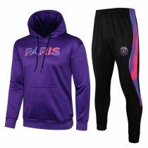 Mens PSG x JORDAN Hoodie Sweatshirt + Pants Suit Purple 2021/22