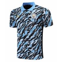Mens Manchester City Polo Shirt Light Blue 2021/22
