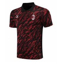 Mens AC Milan Polo Shirt Red 2021/22