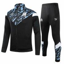 Mens Olympique Marseille Jacket + Pants Training Suit Black 2021/22
