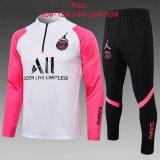 Kids PSG x Jordan Training Suit White - Pink 2021/22