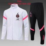 Kids PSG x Jordan Jacket + Pants Training Suit White 2021/22