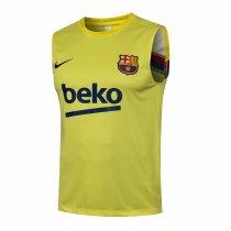 Mens Barcelona Singlet Yellow 2021/22