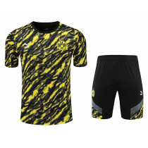 Mens Borussia Dortmund Short Training Suit Yellow 2021/22