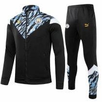 Mens Manchester City Jacket + Pants Training Suit Black 2021/22