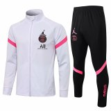 Mens PSG x Jordan Jacket + Pants Training Suit White II 2021/22