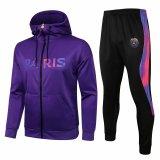 Mens PSG x Jordan Hoodie Jacket + Pants Training Suit Purple 2021/22