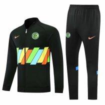 Mens Inter Milan Jacket + Pants Training Suit Black 2021/22